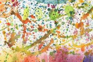 watercolor background with blots