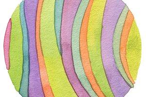 watercolor circle paint