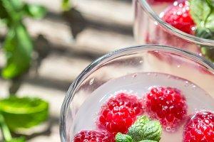 Raspberry - Limoncello Cocktail