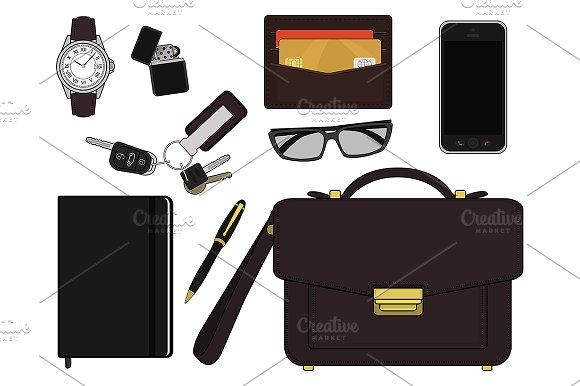 EDC set. Every day carry. Vector - Illustrations