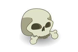 Cartoon skull. Vector