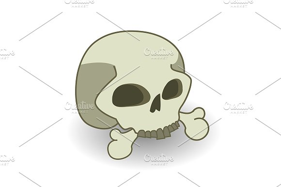 Cartoon skull. Vector - Illustrations