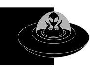 Alien in spaceship. Vector