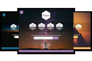 Xagon - Responsive Coming Soon