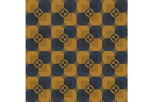 Gold and black pattern. Vector