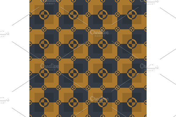 Gold and black pattern. Vector - Patterns