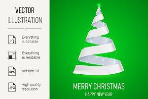 Ribbon Christmas tree.