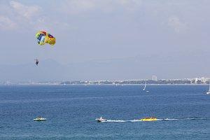 Para sailing at summer