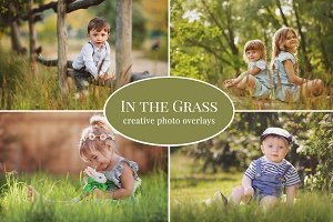 """In The Grass"" photo overlays set"