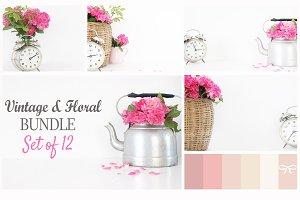 Vintage & Floral Bundle - Set of 12