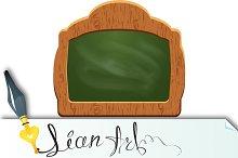 Wooden sign board (chalkboard)