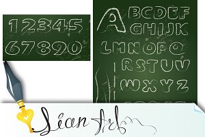 ABC - English alphabet on blackboard