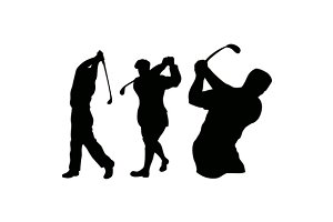 Golfer Swinging