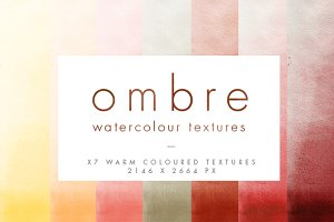 Red Ombre Watercolour Textures