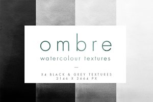 Grey Ombre Watercolour Textures