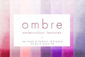 Pink Ombre Watercolour Textures
