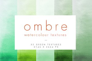 Green Ombre Watercolour Textures