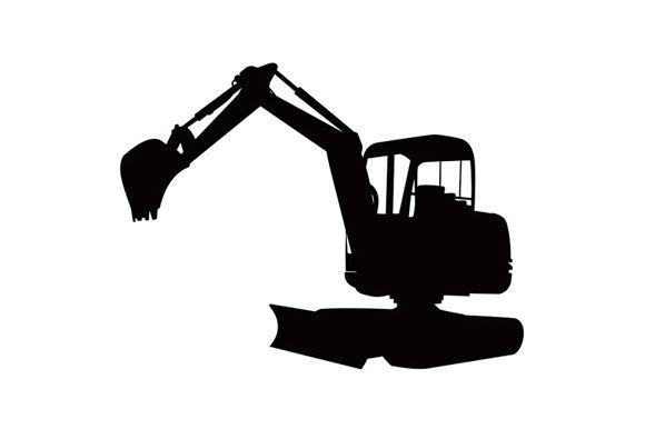 Mechanical Digger Excavator Retro ~ Illustrations ...