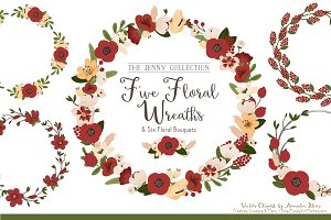 Christmas Floral Wreaths & Bunches