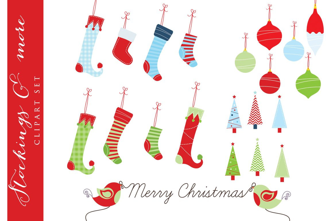 Christmas stocking clipart Photos, Graphics, Fonts, Themes ...