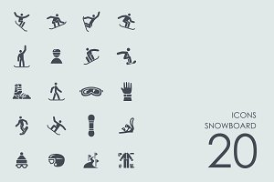 Snowboard icons