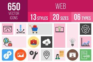 650 Web Icons