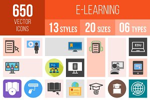 650 E Learning Icons