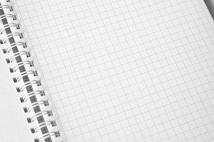 Open album white blank page