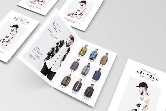 Bifold Fashion Brochure Brochure Templates on Creative Market – Fashion Design Brochure Template