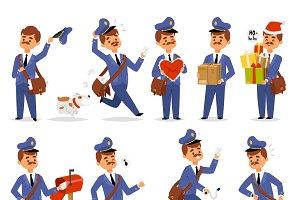Postman character vector courier