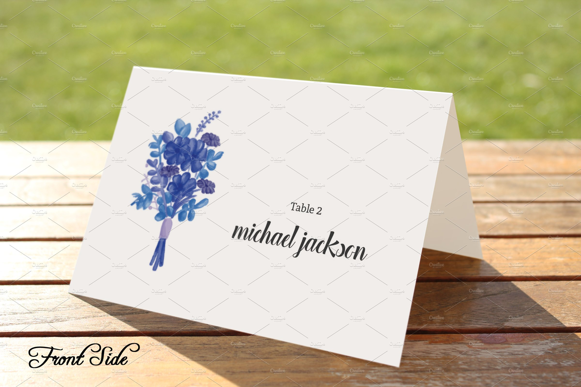 Wedding Place Card Template Card Templates Creative Market - Free wedding place card template