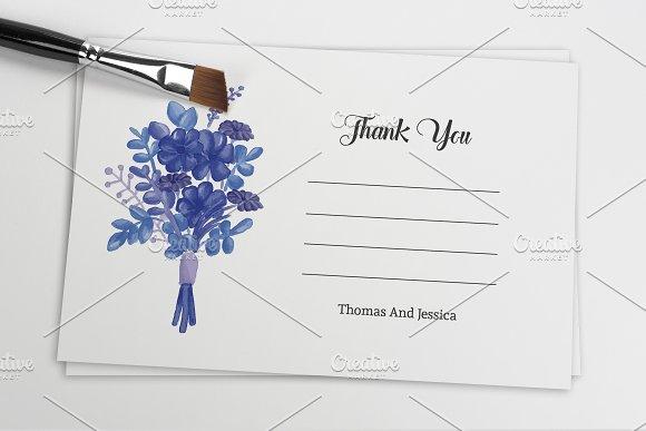 Wedding Thank You Card Template Card Templates on Creative Market – Microsoft Thank You Card Template