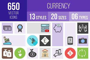 650 Currency Icons