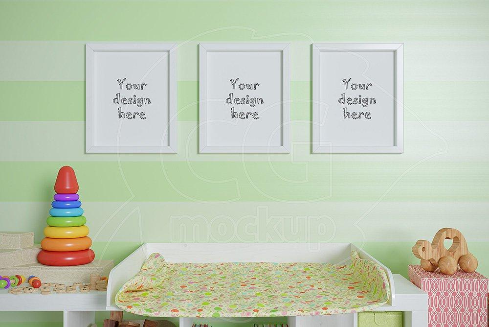 "Nursery frames set mockup 8x10"" ~ Print Mockups ~ Creative ..."