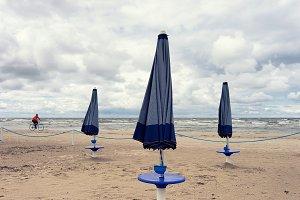 Baltic beach. September