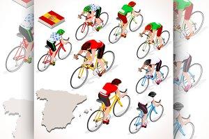 Cyclist Vuelta Espana Isometric