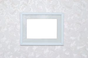 Empty blank photo frame