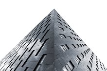 Modern architecture isolated