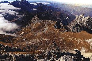 Road below the Mountain