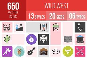 650 Wild West Icons