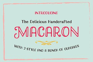 Macaron Handcrafted Typeface + Cakes