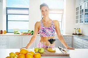 Fit healthy young woman with a lovely smile
