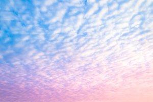 cloudscape in the blue sky