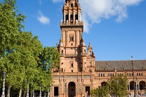 Tower at Plaza de Espana in Seville