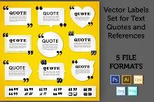 Quote Labels Vector set 3