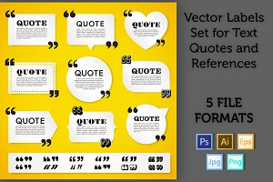 Quote Labels Vector set 3