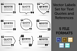 Quote Labels Vector set 2