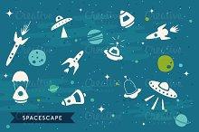 Vector SpaceScape Illustration