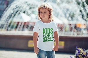 Kids T-Shirt Mock-Up Vol 2