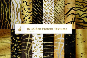 16 Golden Pattern Textures